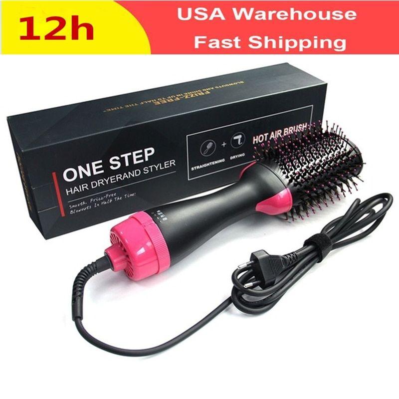 2 In 1 Pro Ceramic Corn Roller Magic Hair Curler Hair Wand Hair Straightener Style Straightening Flat Iron Hai Hair Dryer Brush Hair Blower Electric Hair Dryer