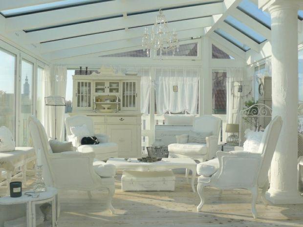 wintergarten einrichten wei e shaggy m bel teppich. Black Bedroom Furniture Sets. Home Design Ideas