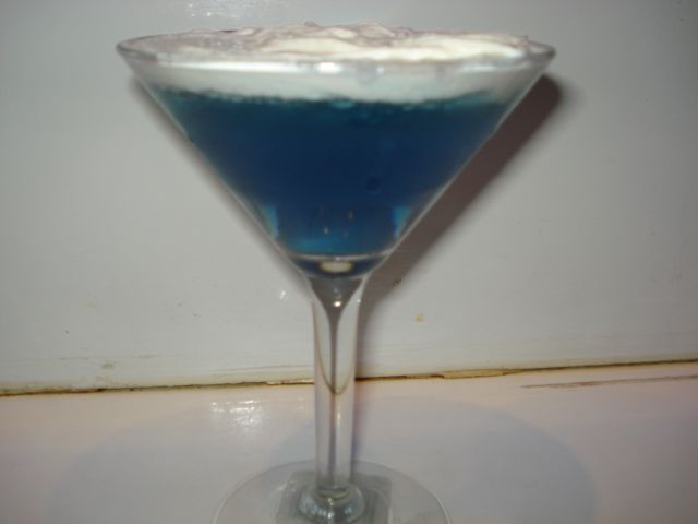 Lavender crème pop martini... Topped with an alcohol infused whipped cream...  For more cocktail pictures, follow the link and like the page.  Thanks https://www.facebook.com/pages/Damien-The-Intoxicologist-Filth/187108378032348?ref=hl  Also on instagram: mixologist_damienfilth