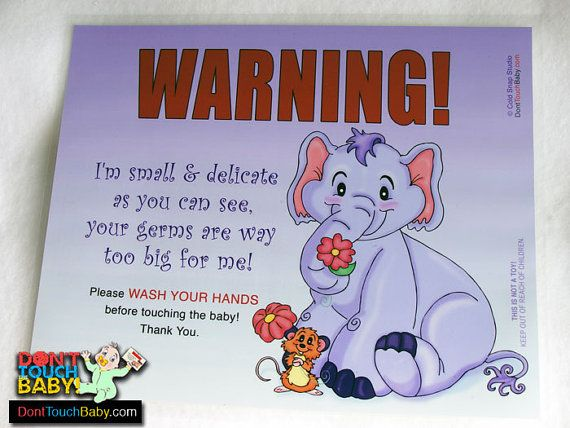 CLEARANCE - Flower Friends Wash Your Hands before touching the baby - Nursery Door Sign - Reg. 12.00 #baby #freeshipping #clearance