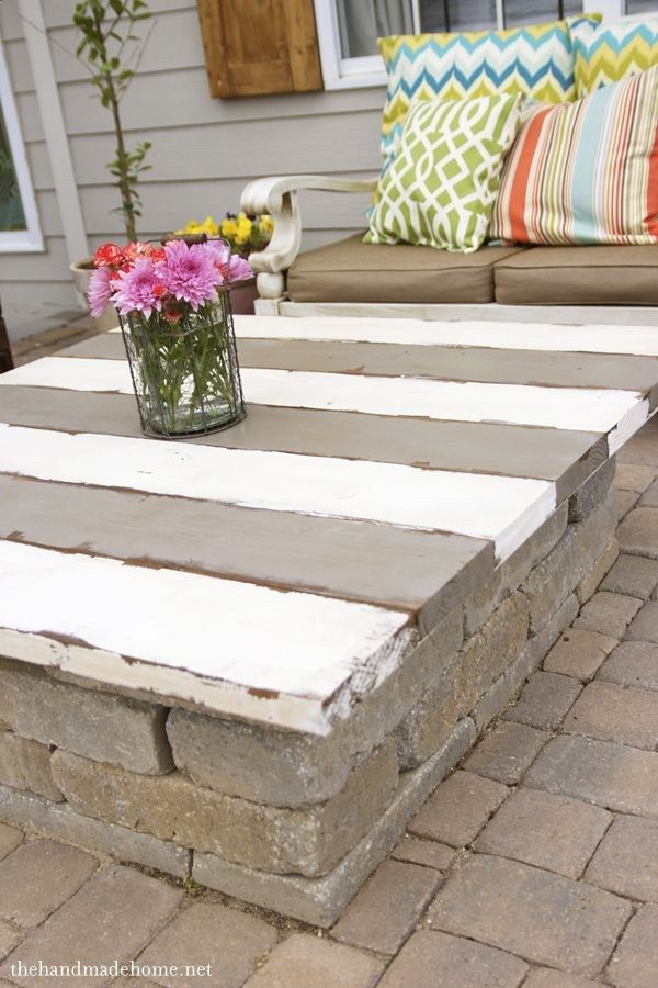 How To Make A Table Top For Outdoor Fire Pit So It Can Double As A