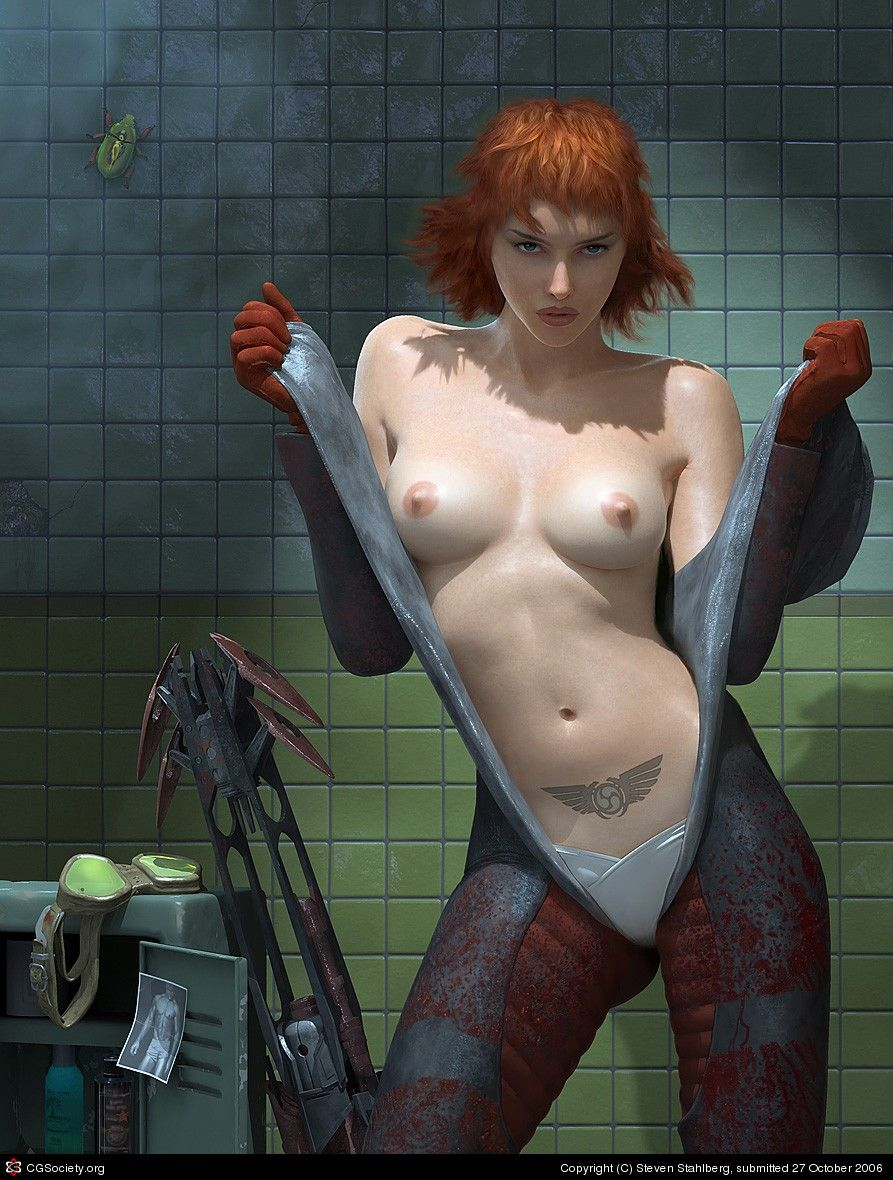 Female Game Character Nudity By Steven Stahlberg  3D -2610