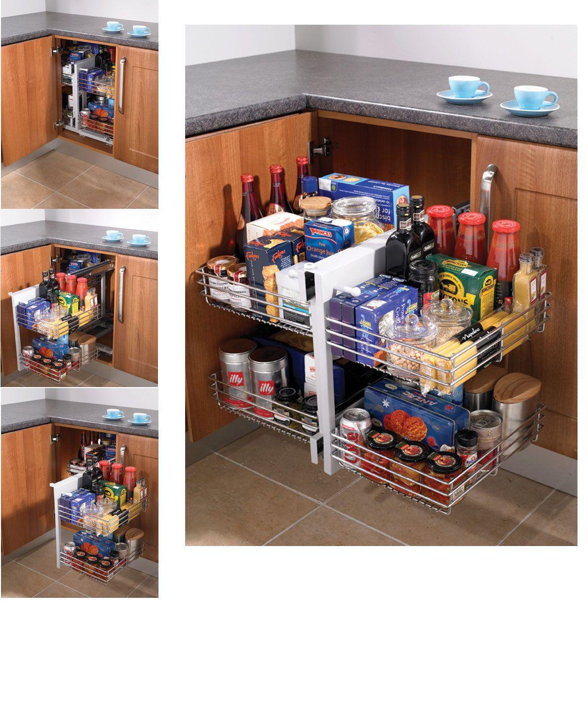 Blind Corner Optimiser Magic Corner Storage For 800 1000mm Kitchen Cabinets Ebay Corner Kitchen Cabinet Blind Corner Cabinet Cabinet Organization