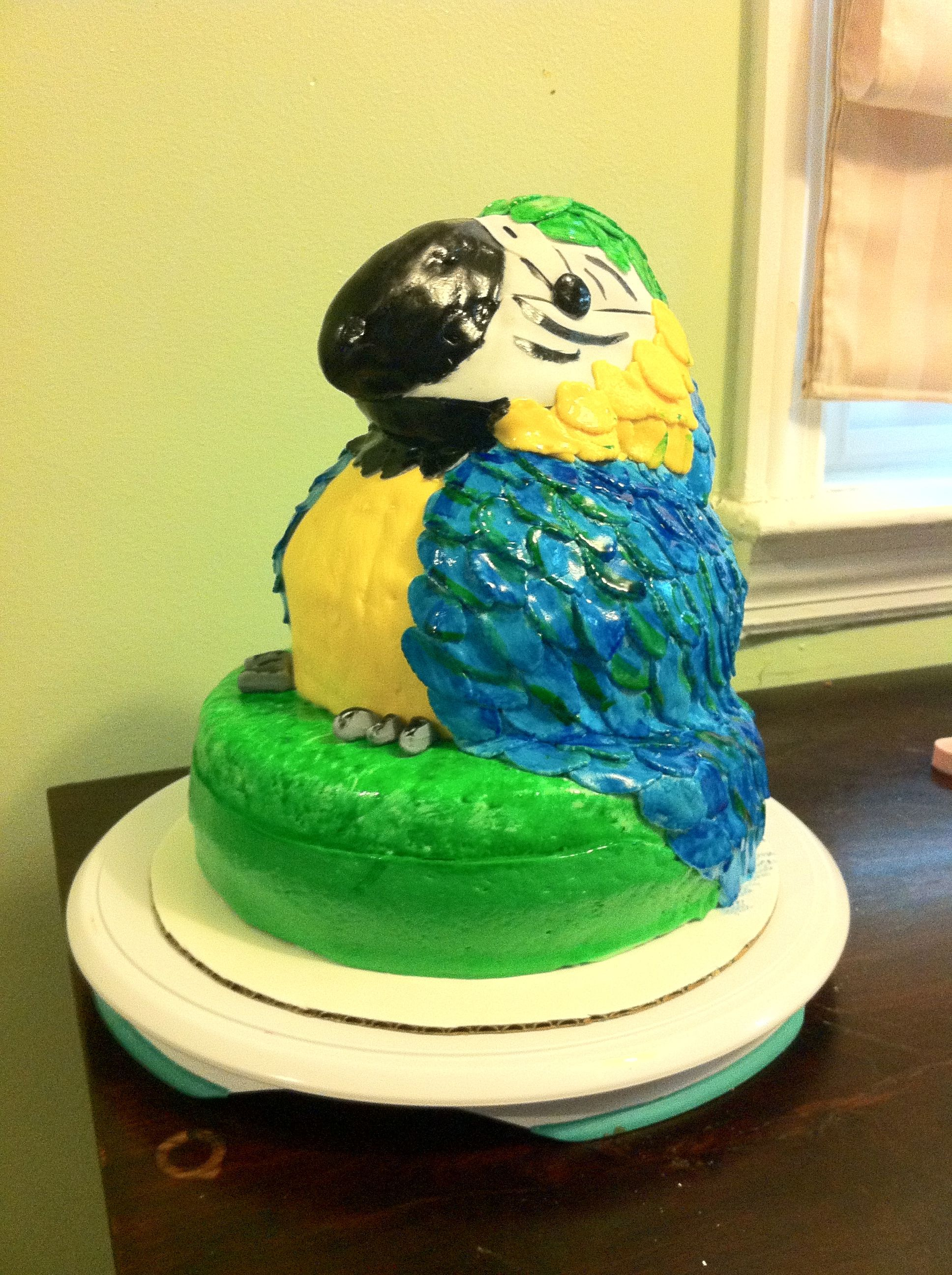 Macaw cake - I made this cake for my lithe cousins school project ...