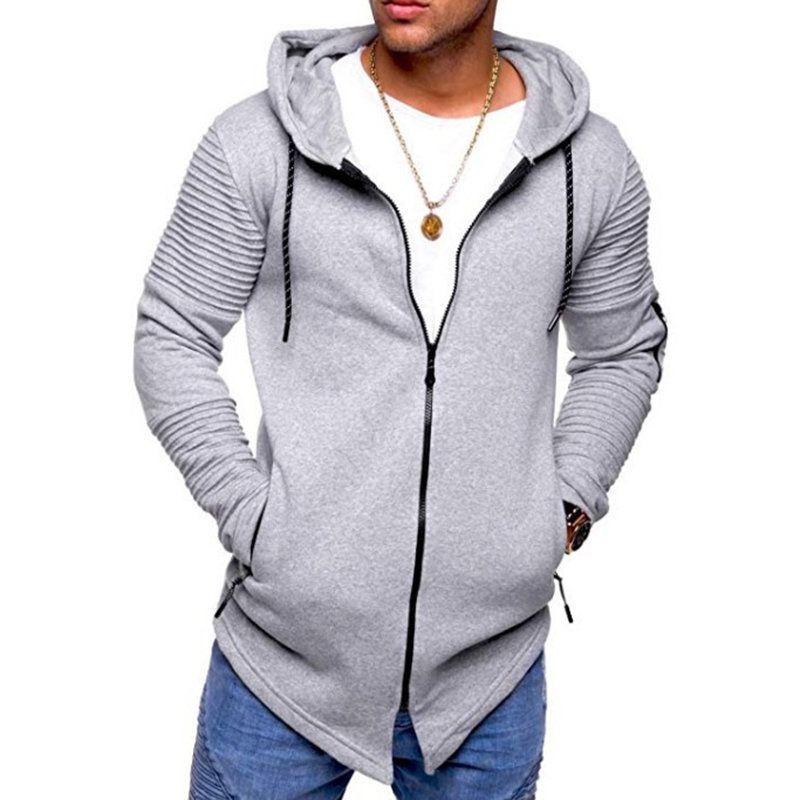 Men/'s Long Sleeve Hooded Casual Jacket Zipper Hoodie Coat Sweatshirt Slim Tops