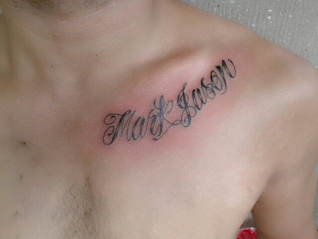 Name plate tattoo