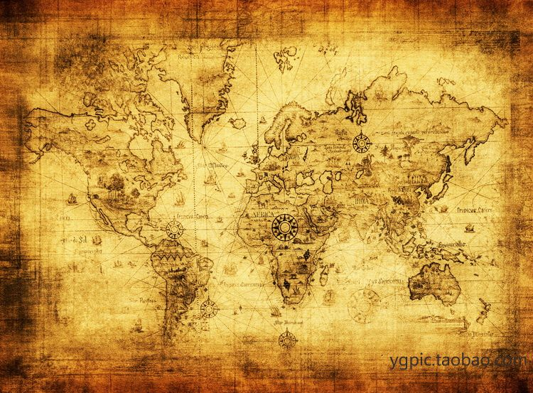 oil painting on canvas vintage map fashion decorative painting antique world map treasure map. Black Bedroom Furniture Sets. Home Design Ideas
