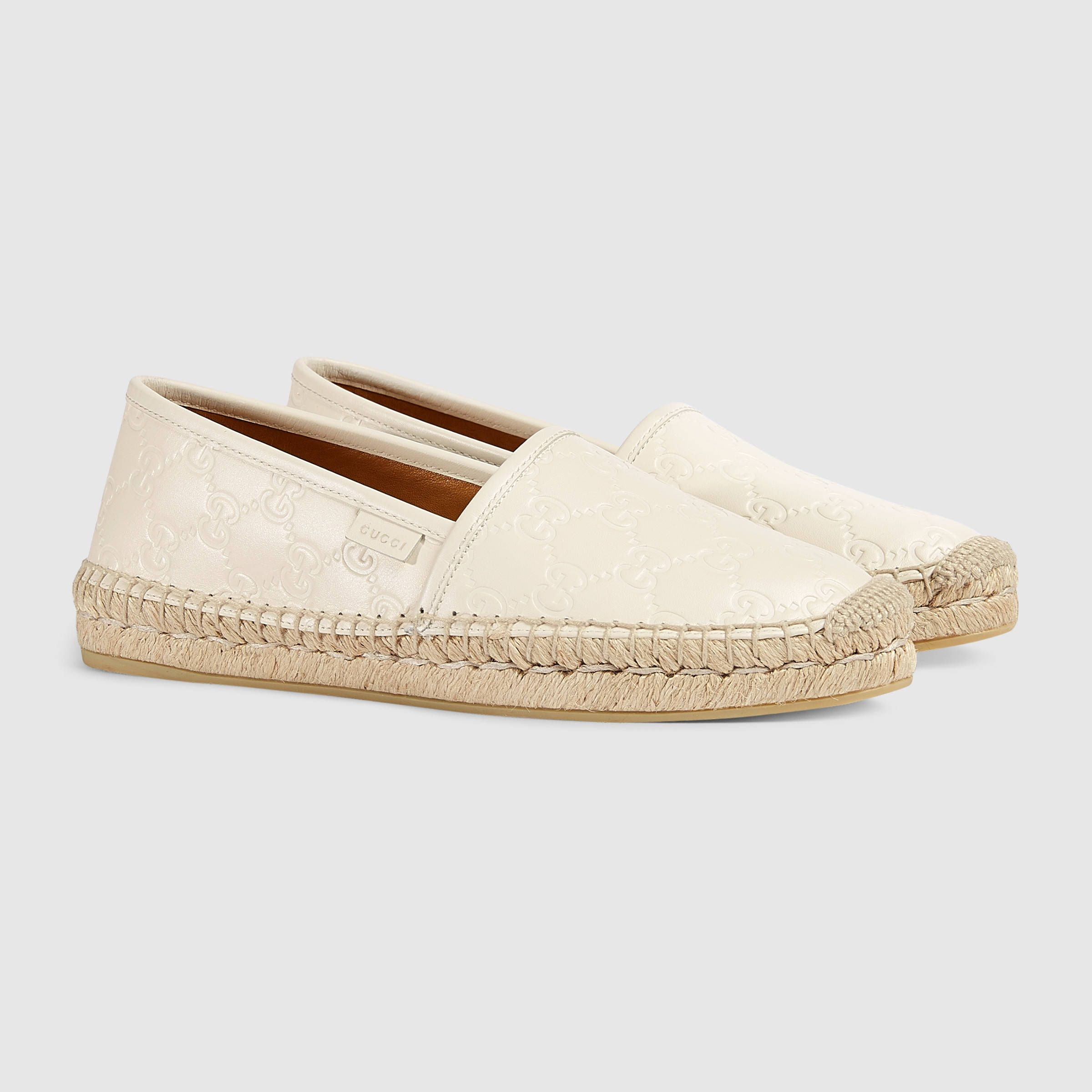 cf7a96987 Gucci Signature leather espadrille € 350 (White) | Ploylife | Womens ...