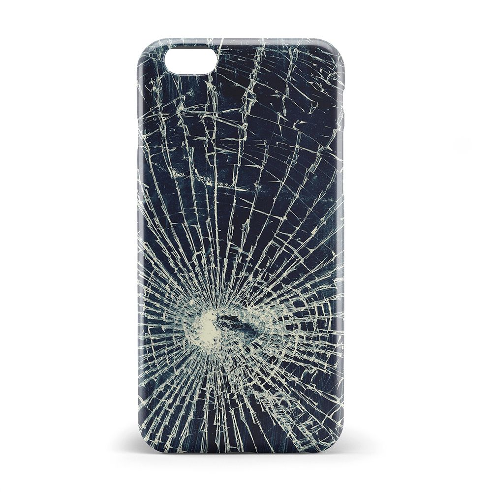 Broken glass surface coque phone cover case for iphone 7