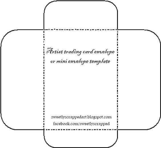 small, just the right size for ATC cards ENVELOPPES Pinterest - Small Envelope Template