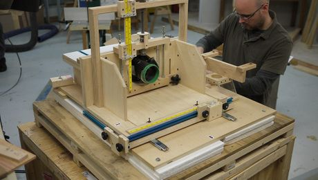Homemade horizontal router table finewoodworking helmets homemade horizontal router table finewoodworking greentooth Images