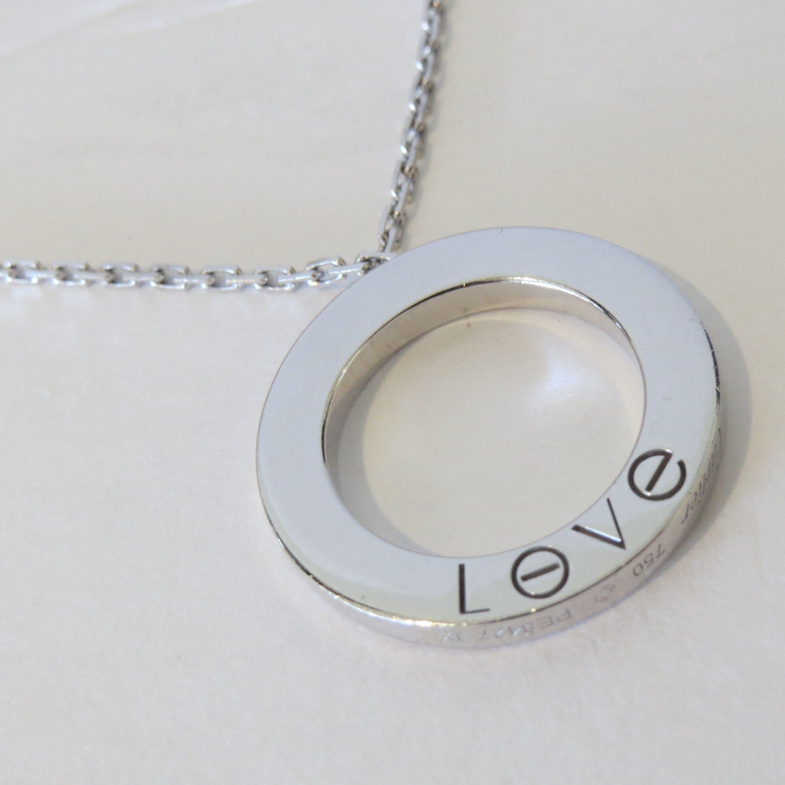 Cartier love pendant necklace in white gold a forever piece of cartier love pendant necklace in white gold a forever piece of luxury brand aloadofball Choice Image