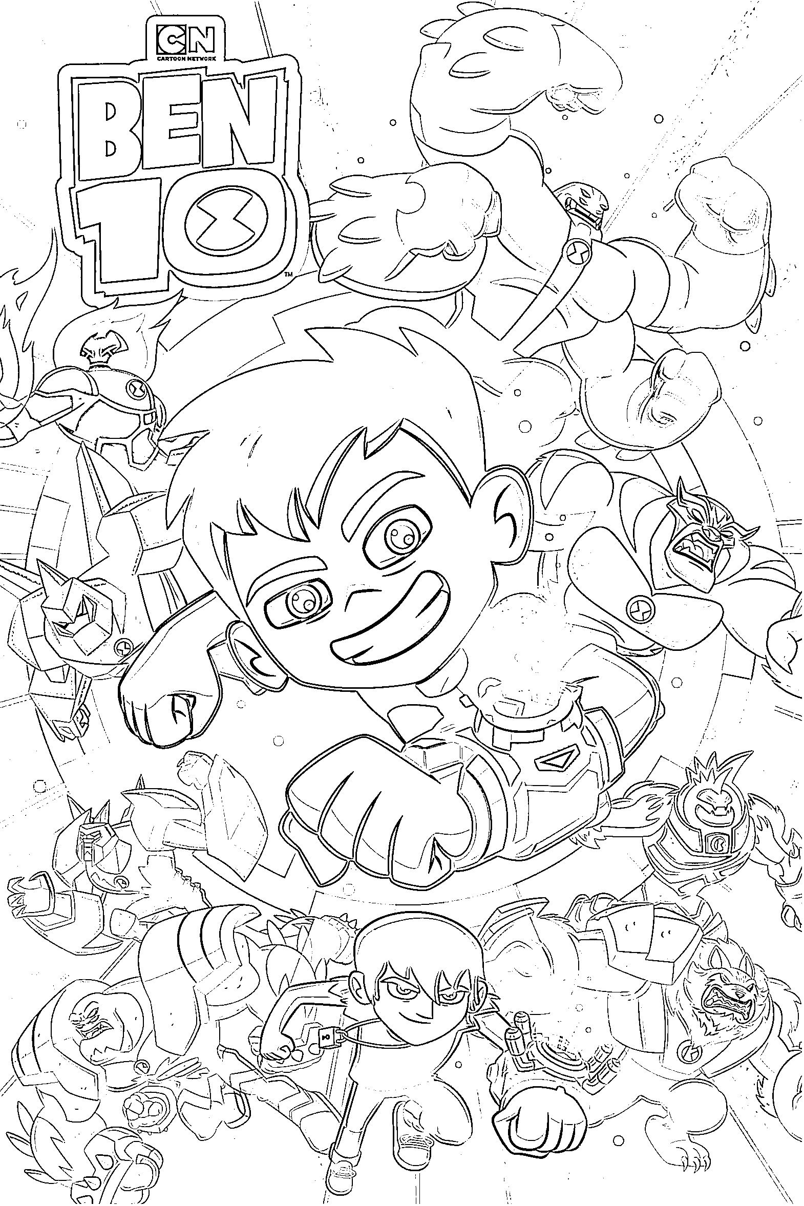 Gallery Ben 10 Coloring Pages is free HD wallpaper.