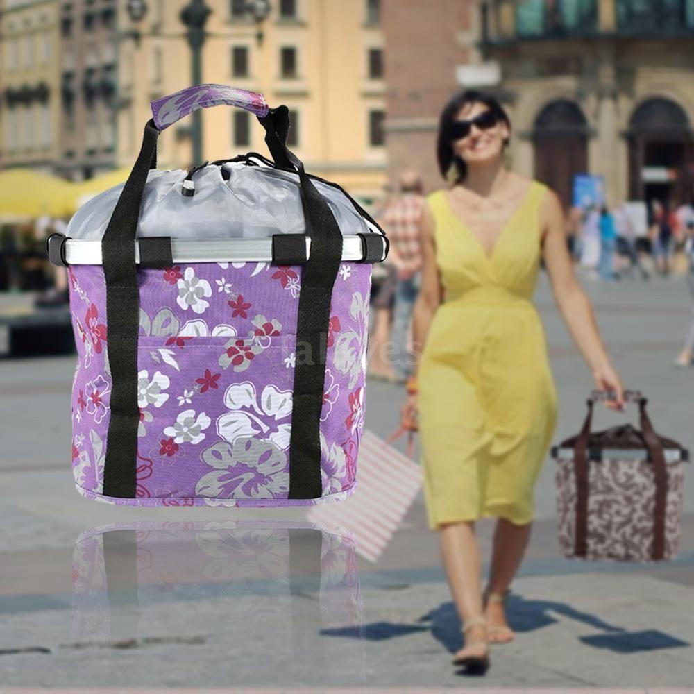 Bicycle Detachable Front Canvas Basket Carrier Bag Pet