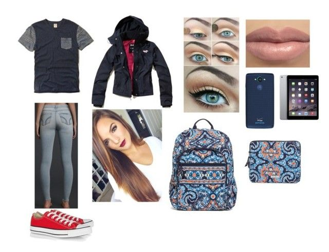 """""""Winter Day at School"""" by victoriaann34 ❤ liked on Polyvore featuring Hollister Co., Converse, Motorola and Vera Bradley"""