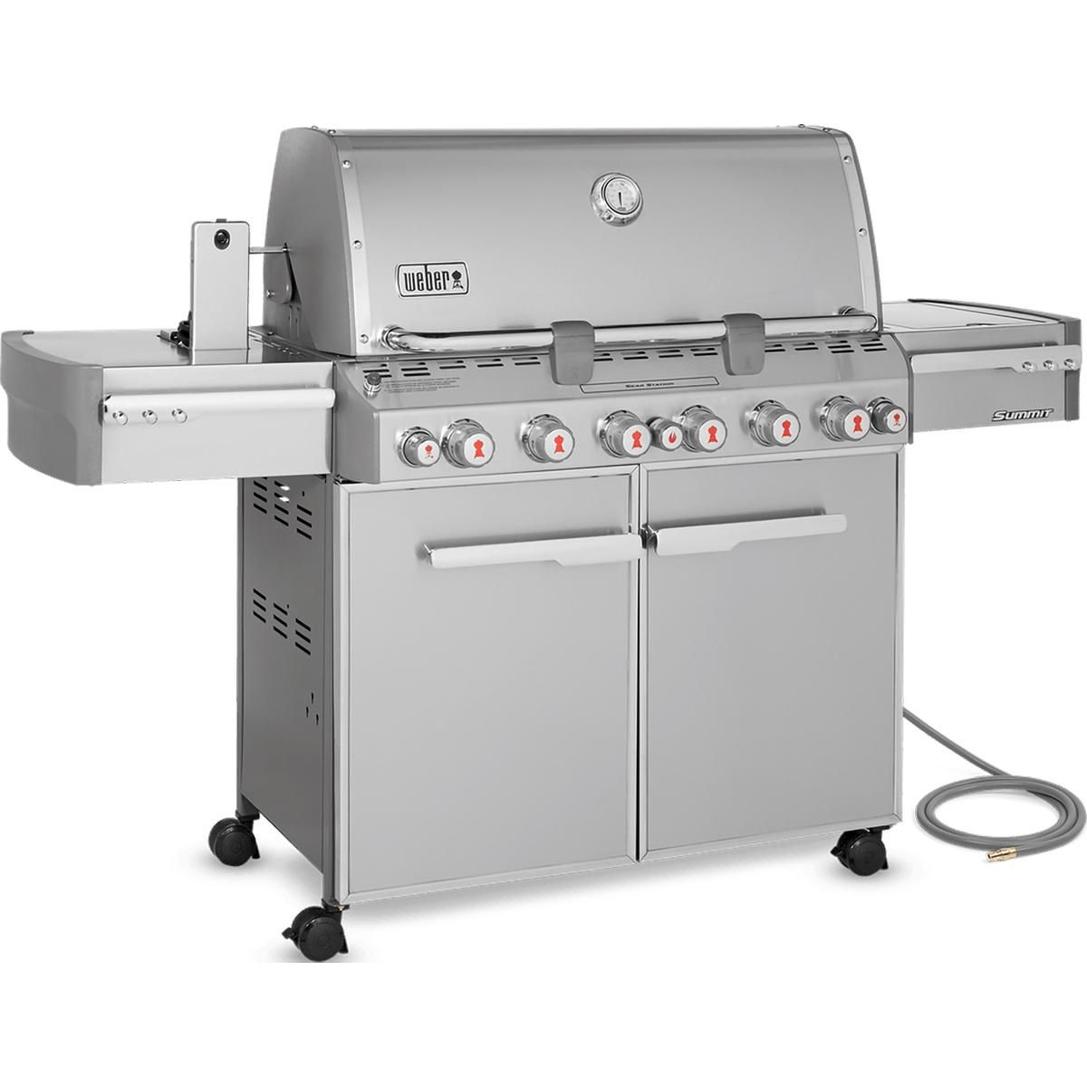Weber Summit S 670 Natural Gas Grill With Rotisserie Sear Burner Side Burner 7470001 Grilling Gas Grill Reviews Best Gas Grills