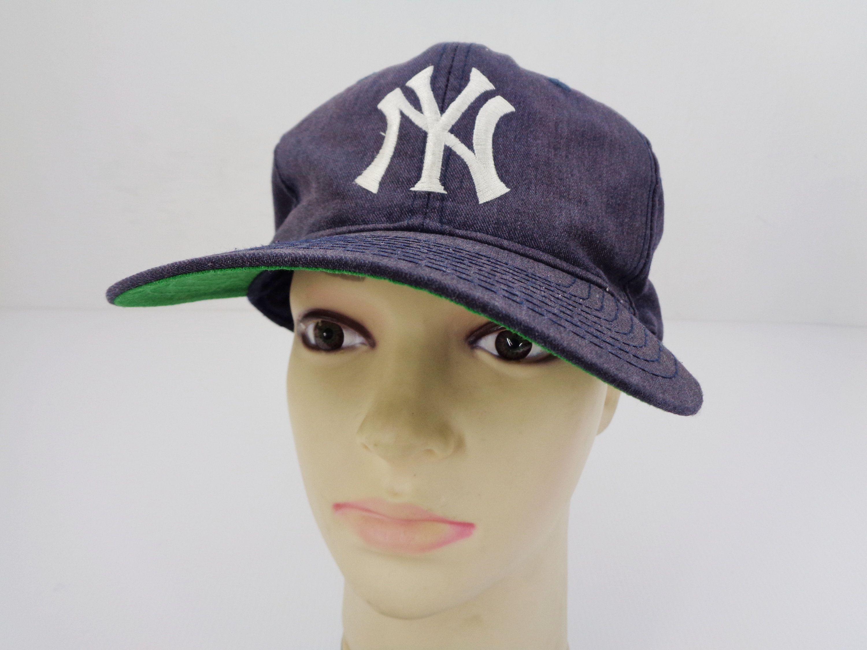 New York Yankees Distressed Cap Vintage Yankees Hat Vintage New York Yankees Vintage Embroidery Logo Hat Cap Hats Vintage Vintage New York Embroidery Logo