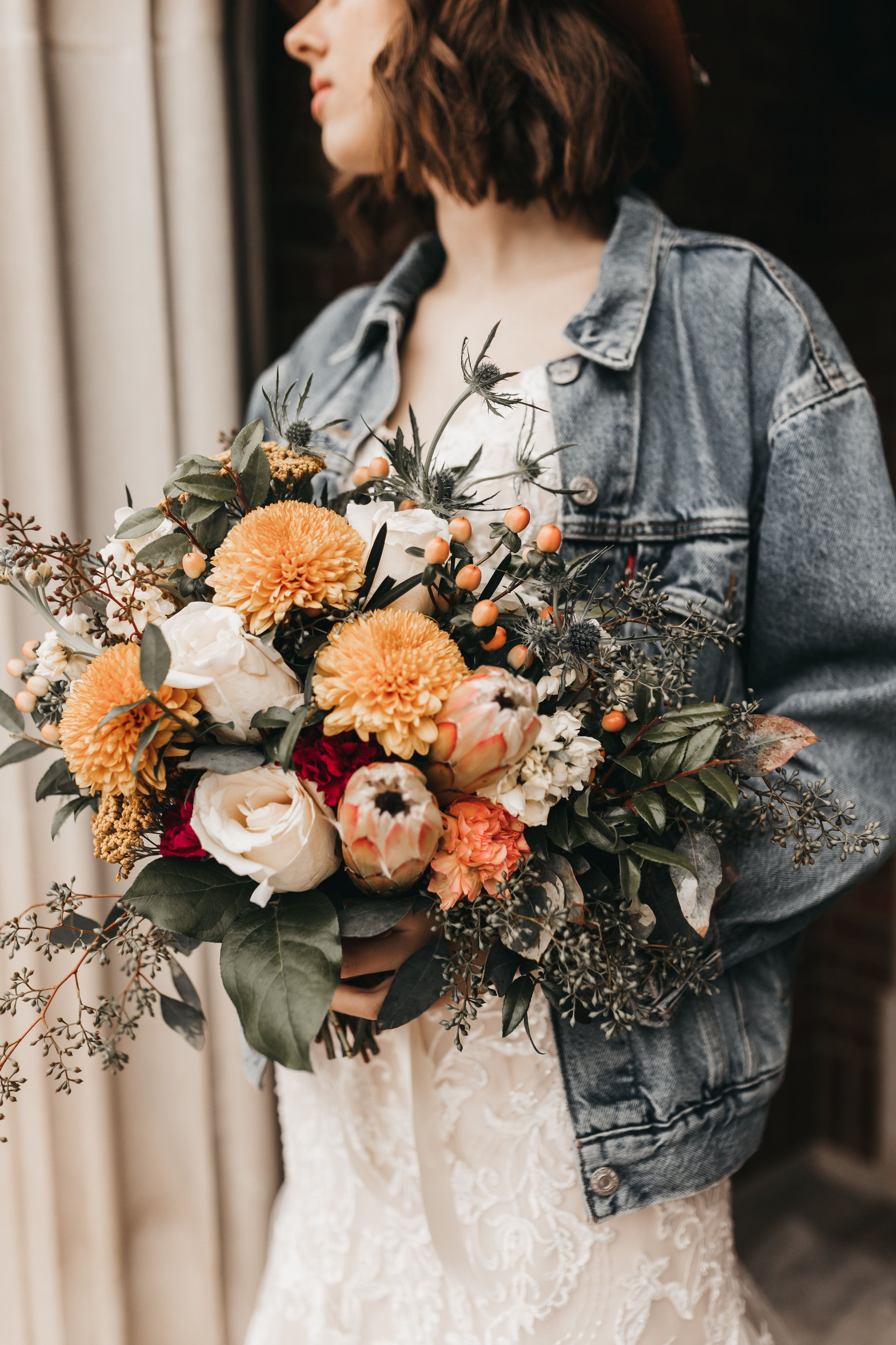wedding bouquet/peach and blush wedding bouquet/iowa wedding
