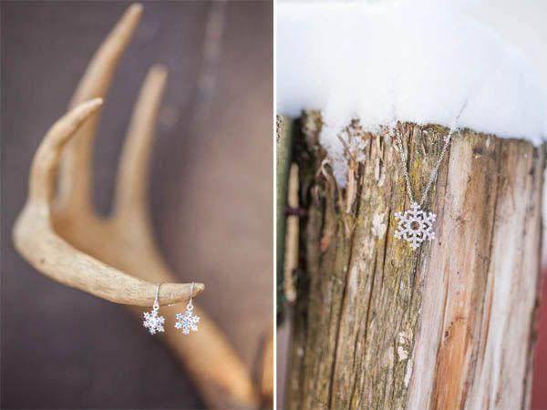 Un inspiration shoot invernale nella neve