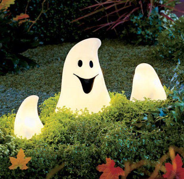 Lighted Ghost Ground Breaker, Indoor-Outdoor Ghost Lights, ACAmazon - outdoor ghosts halloween decorations