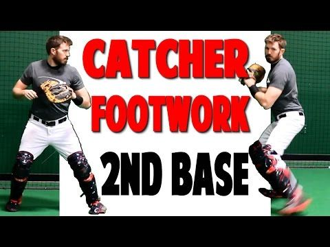Catcher Footwork | Throwing To Second (Pro Speed Baseball) - YouTube