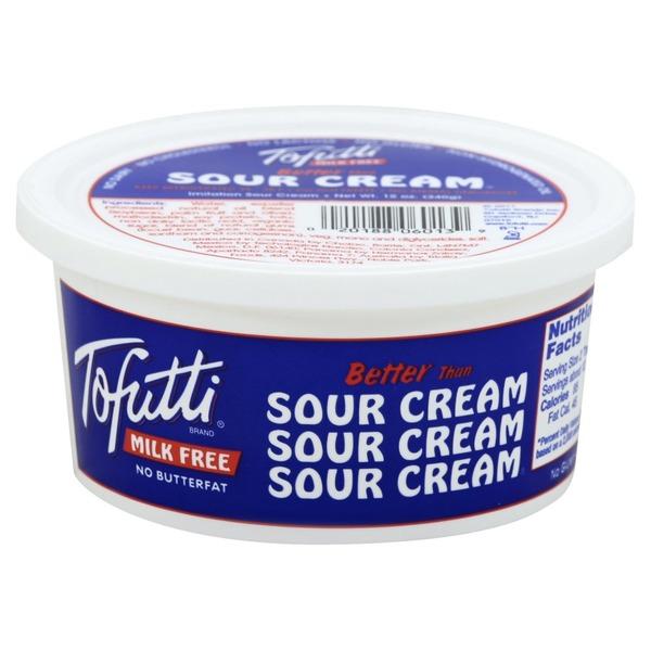 Tofutti Sour Cream Milk Free Imitation Contains Soy In 2020 Tofutti Sour Cream Vegan Sour Cream