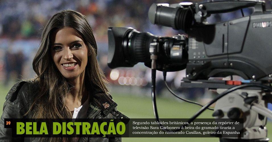 Copa de 2010 - Sara Carbonero  (Namoradinha do Goleiro Espanhol Casilas)