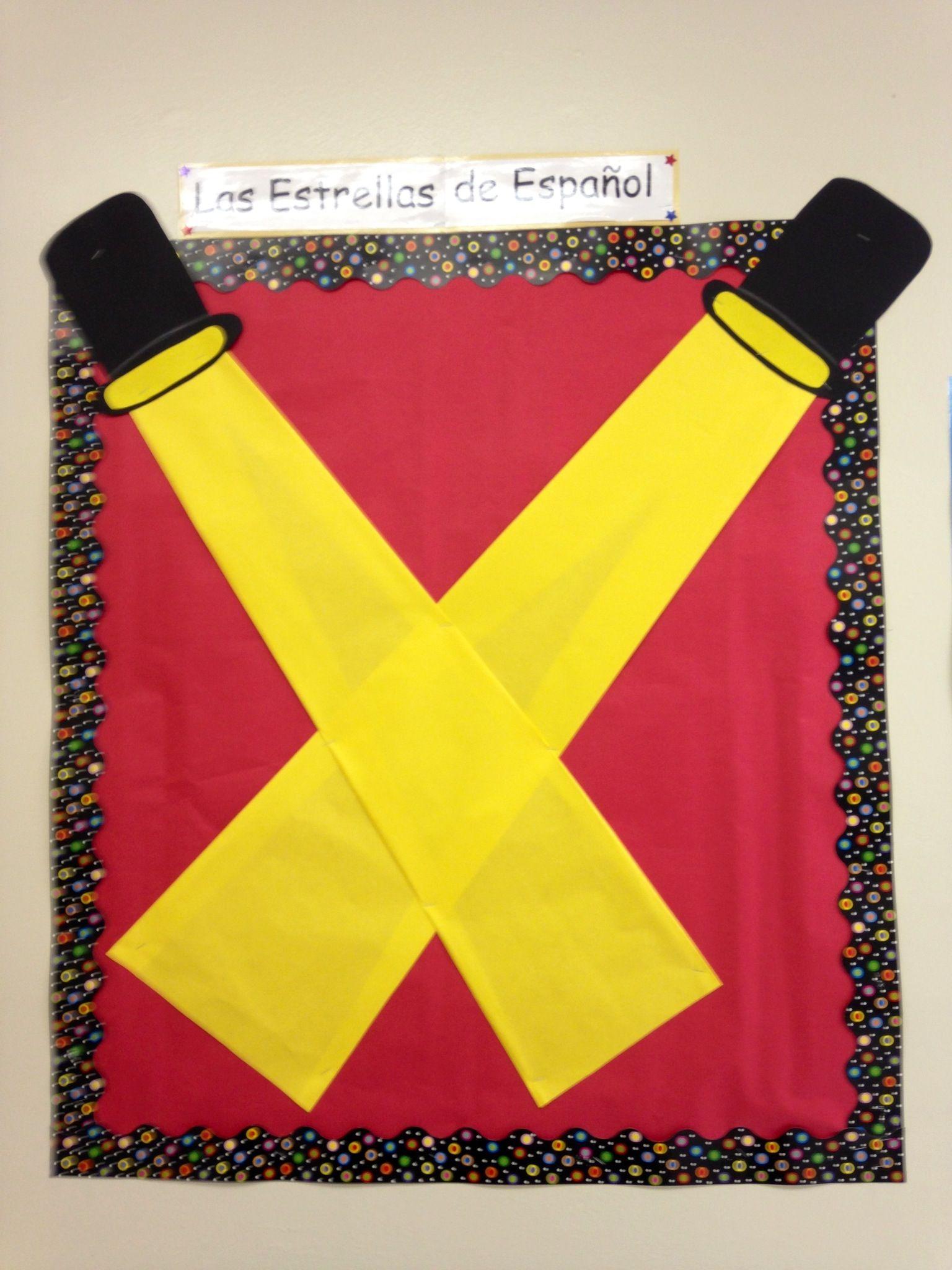 Spanish Star Students Board | Teacher bulletin boards ...