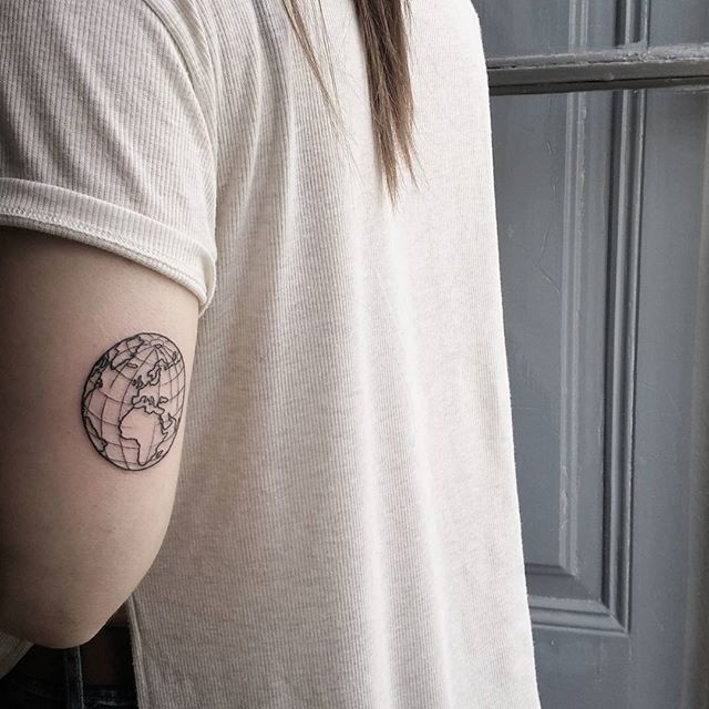 Pin for Later: 35 Unique Travel Tattoos to Fuel Your Eternal Wanderlust Classic Globe
