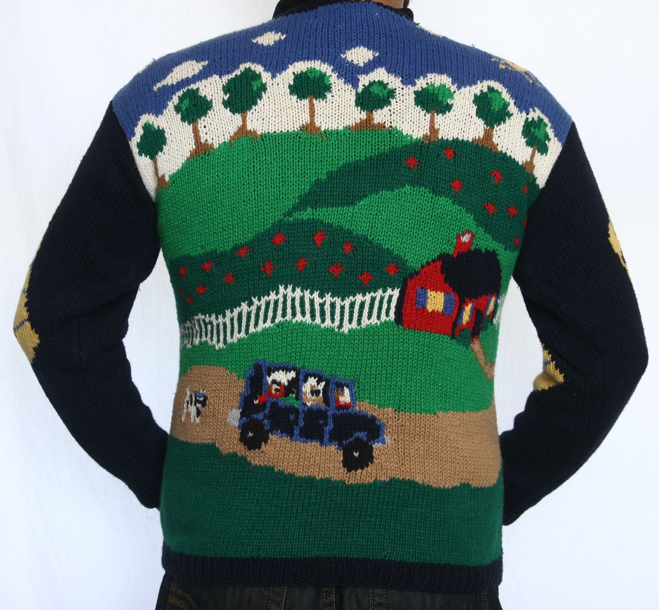 Family in SUV ugly sweater | Don't Sweat It: Ugly Sweaters ...