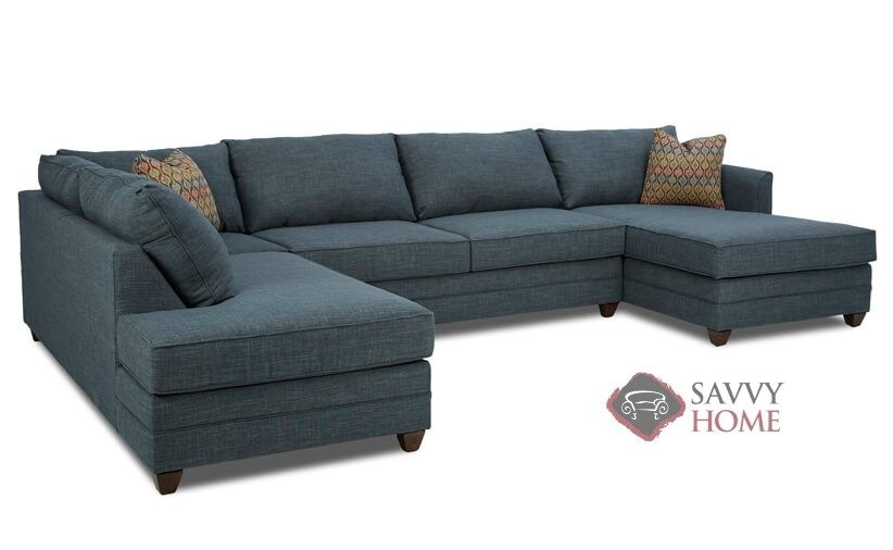 Valencia Dual Chaise Sectional Full Sofa Bed with Storage ...