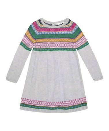 ae3620e2f Take a look at this Gray Fair Isle Sweater Dress - Infant