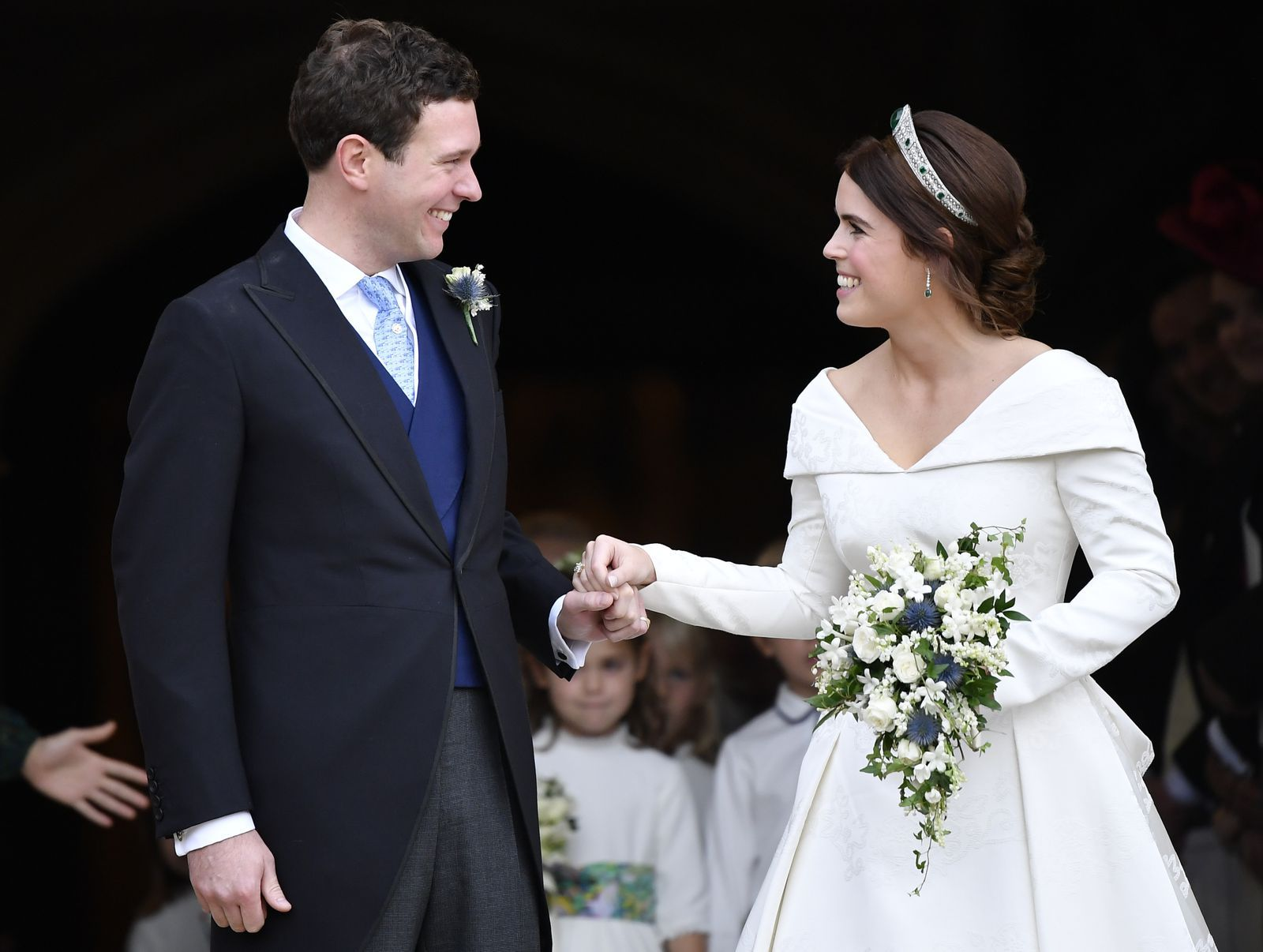 23 Major Moments You Missed From Princess Eugenie S Royal Wedding Eugenie Wedding Princess Wedding Princess Eugenie Jack Brooksbank [ 1206 x 1600 Pixel ]