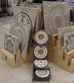ceramic tile medalion backsplashes | Medallion Display Medallions ...
