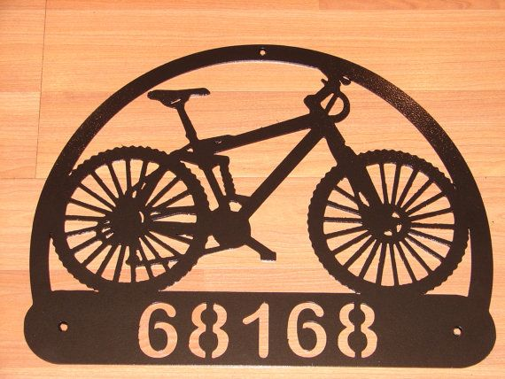 Custom Bicycle ADDRESS PLAQUE Metal Sign Personalized Name ...