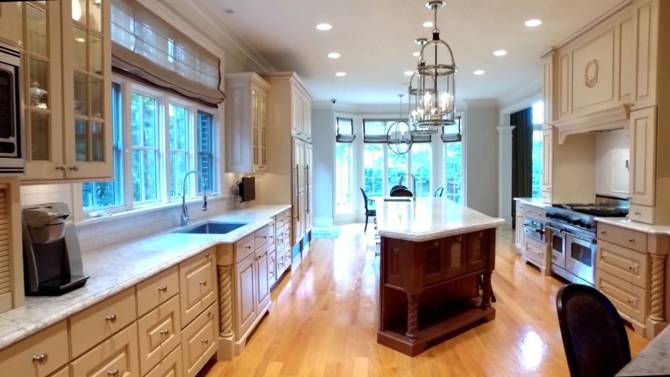 This kitchen at 141 S. County Line Road in Hinsdale, IL are quartz ...
