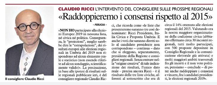 """Perugia, 1 Agosto 2019. Ringrazio Molto """"La Nazione"""" per l ..."""