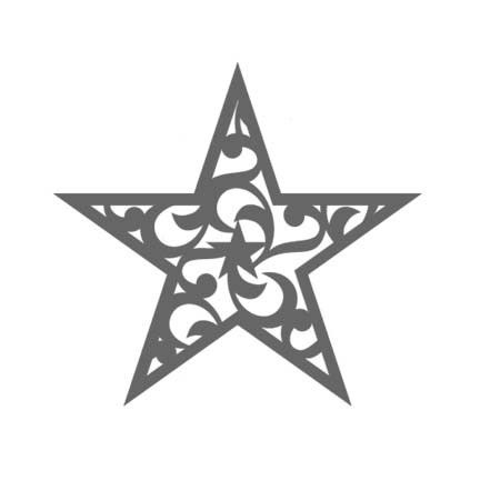 Large Filigree Star Rubber Stamp By DRS Designs