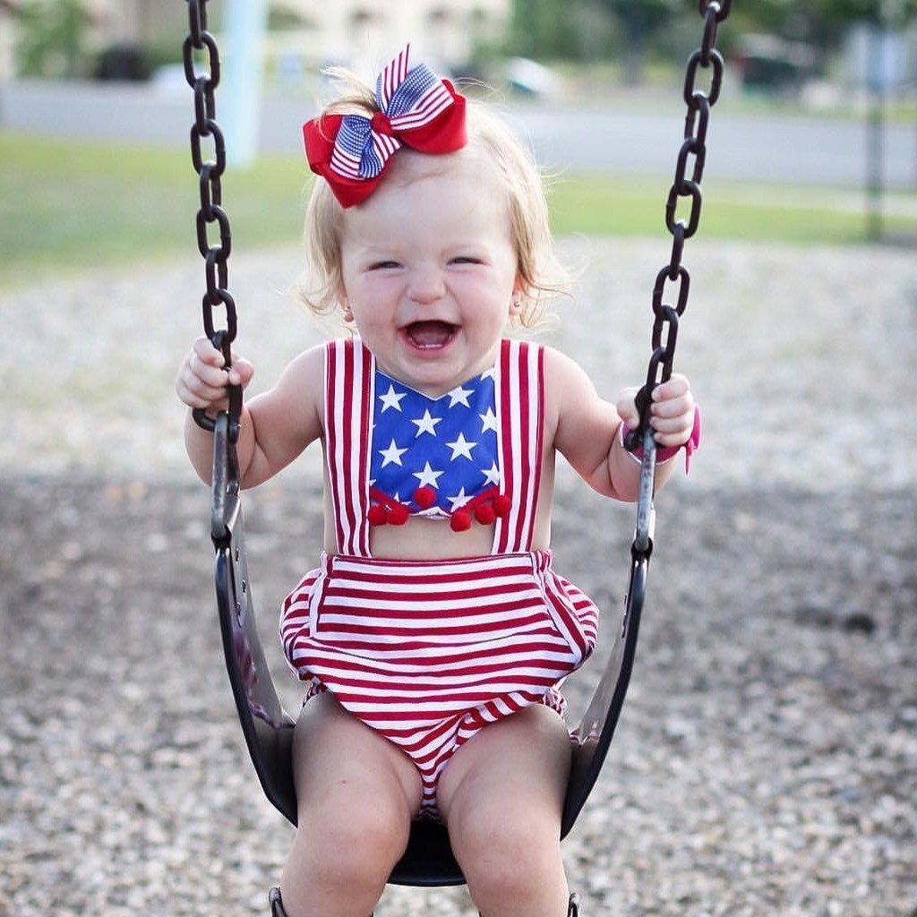 Red, White, & Blue July Romper | Red white blue