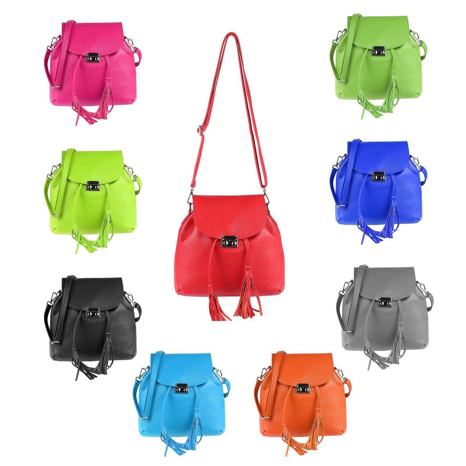 5942e6615989e5 OBC MADE IN ITALY 2in1 DAMEN Echt LEDER TASCHE RUCKSACK Damentasche  Handtasche Schultertasche Umhängetasche Ledertasche