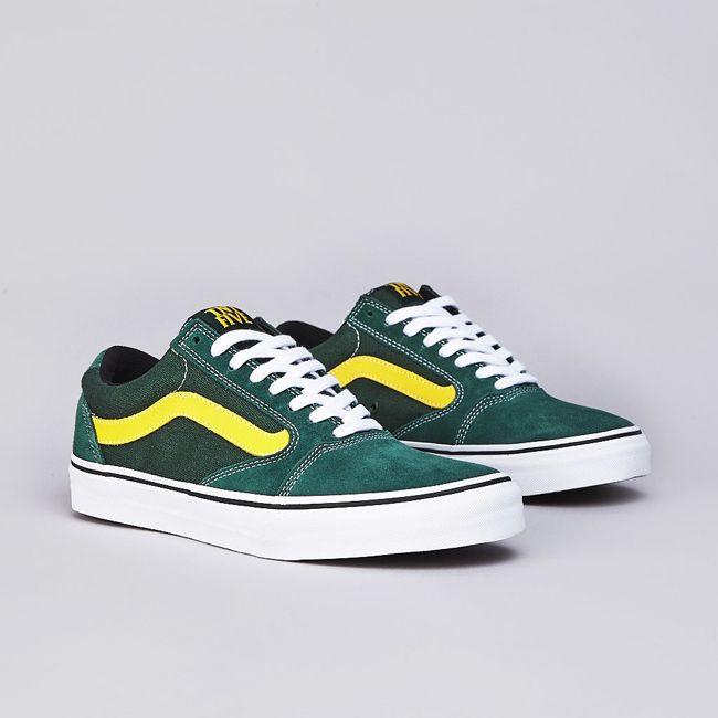 9efd28a8ac4aa3 Vans TNT 5 Oak Green   Yellow
