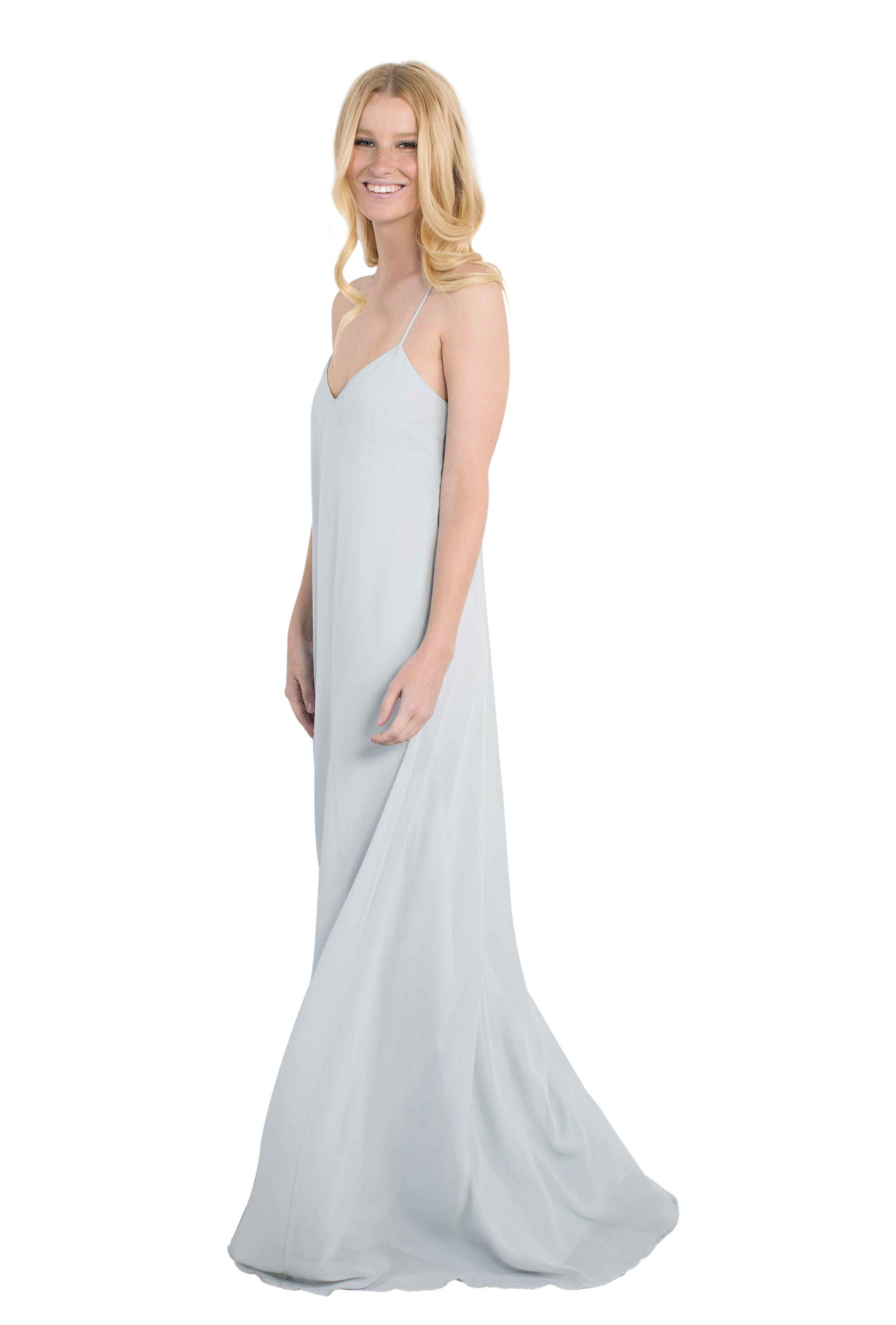 Grey wedding dresses  Nouvelle Amsale Willa  Chiffon bridesmaid dresses and Weddings