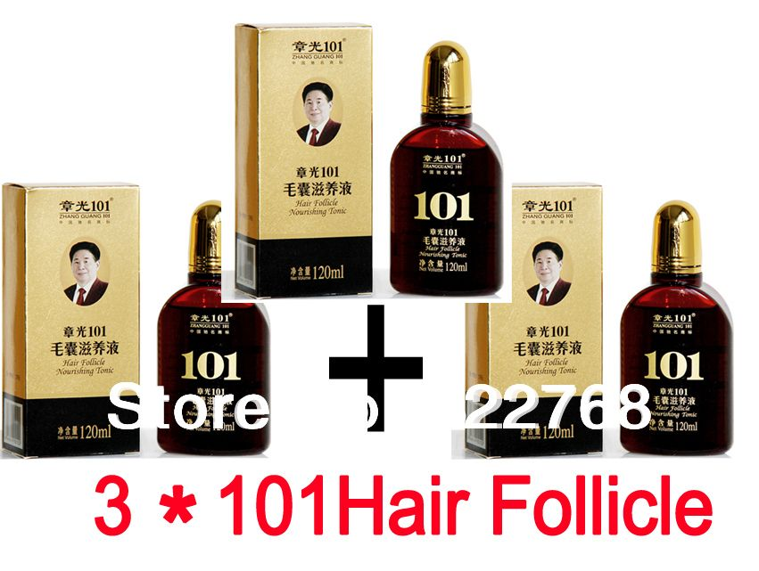 zhangguang 101 hair follicle nourishing tonic 3 pieces 3x120ml