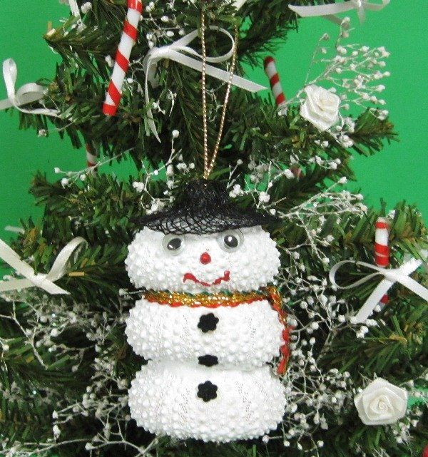 Wholesale Sea Urchin Snowman Christmas Ornament With Black Hat Packed 5 1 80 Each Packed 30 Pcs 1 60 Each Christmas Ornaments Snowman Christmas Ornaments Christmas Snowman