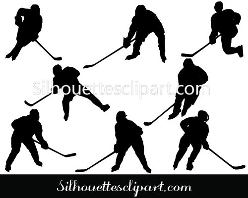 Ice Women Hockey Players Silhouette Download Women S Hockey Hockey Players Silhouette