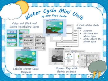 Water Cycle Mini Unit Teachers Pay Teachers Best Of