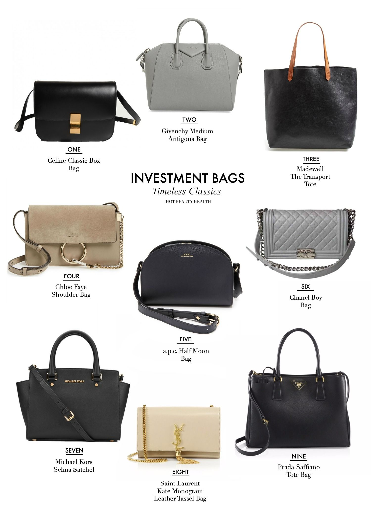 f0f0de33f0c5 Here are 9 classic  handbags from Chanel and Prada to Celine and Saint  Laurent that are worth investing in right now. Hot Beauty Health blog