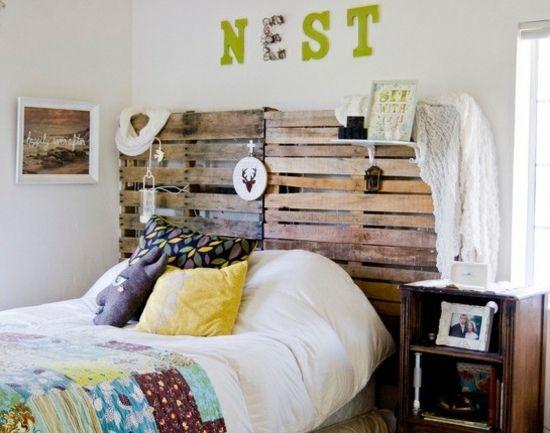 Holz Paletten Bett Kopfteil Bauen