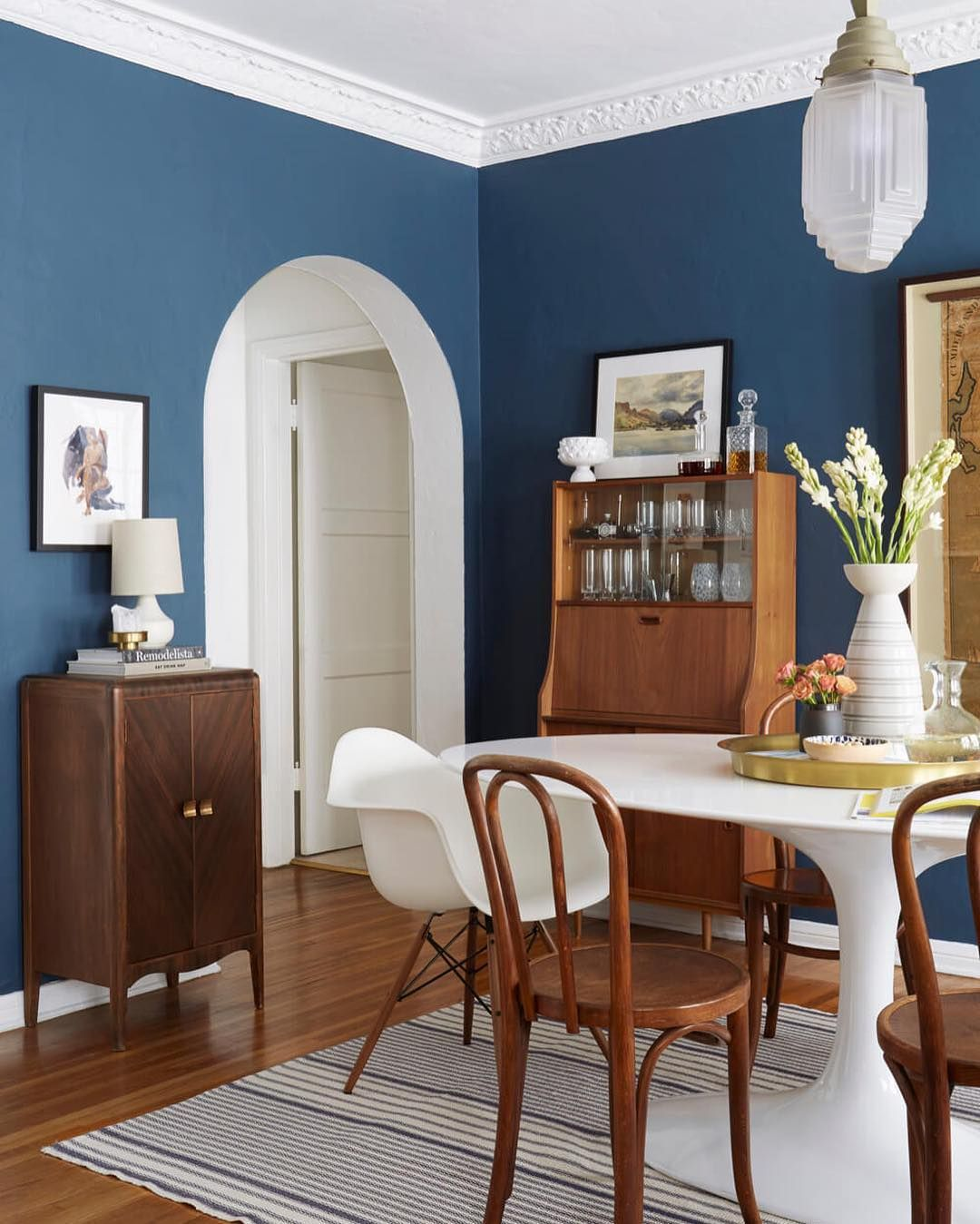 25 Blue Dining Room Designs Decorating Ideas: Stiffkey Blue By Farrow And Ball