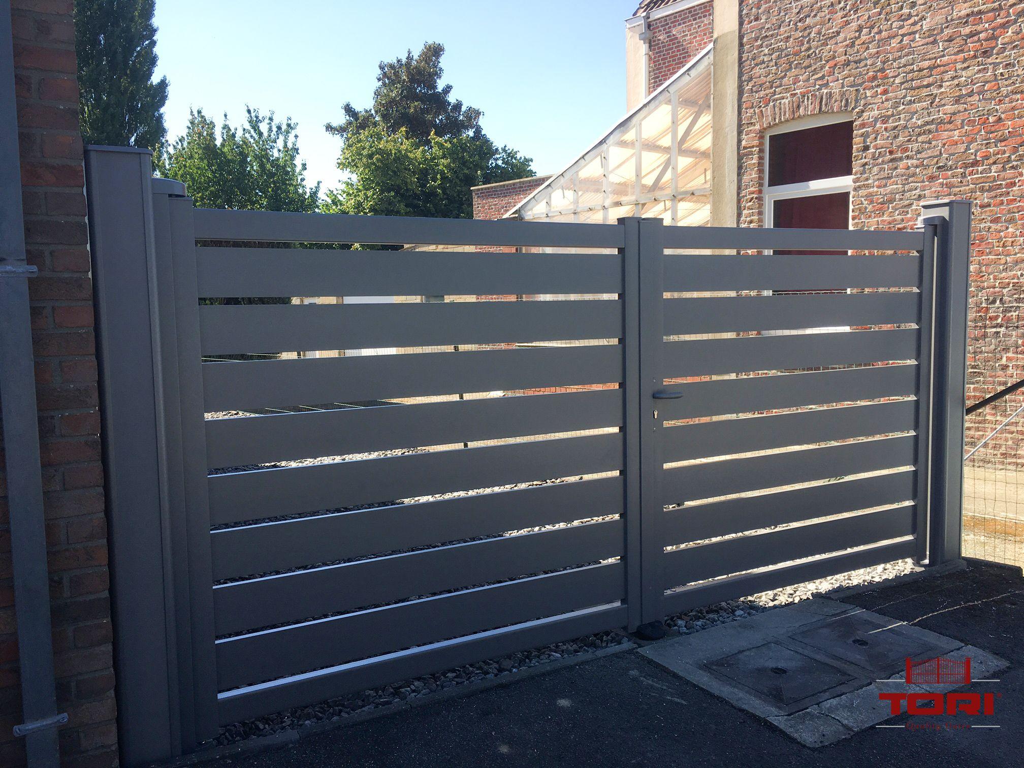Portail aluminium maez id es portail for Portail jardin aluminium